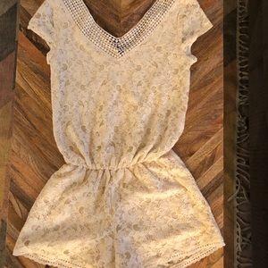 Xhilaration Women's XS cream lace romper